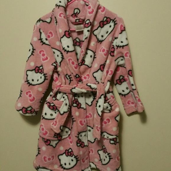 65390d0bc Hello Kitty Pajamas | Girls Pink Fleece Bathrobe Size 4t | Poshmark